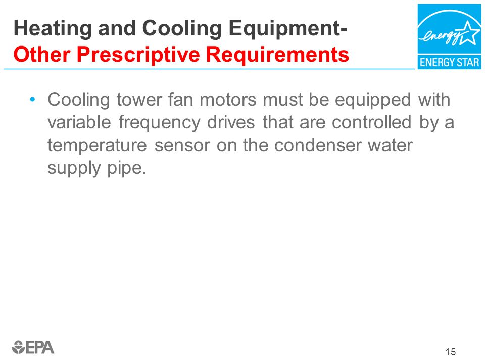 Heating and Cooling Equipment- Other Prescriptive Requirements