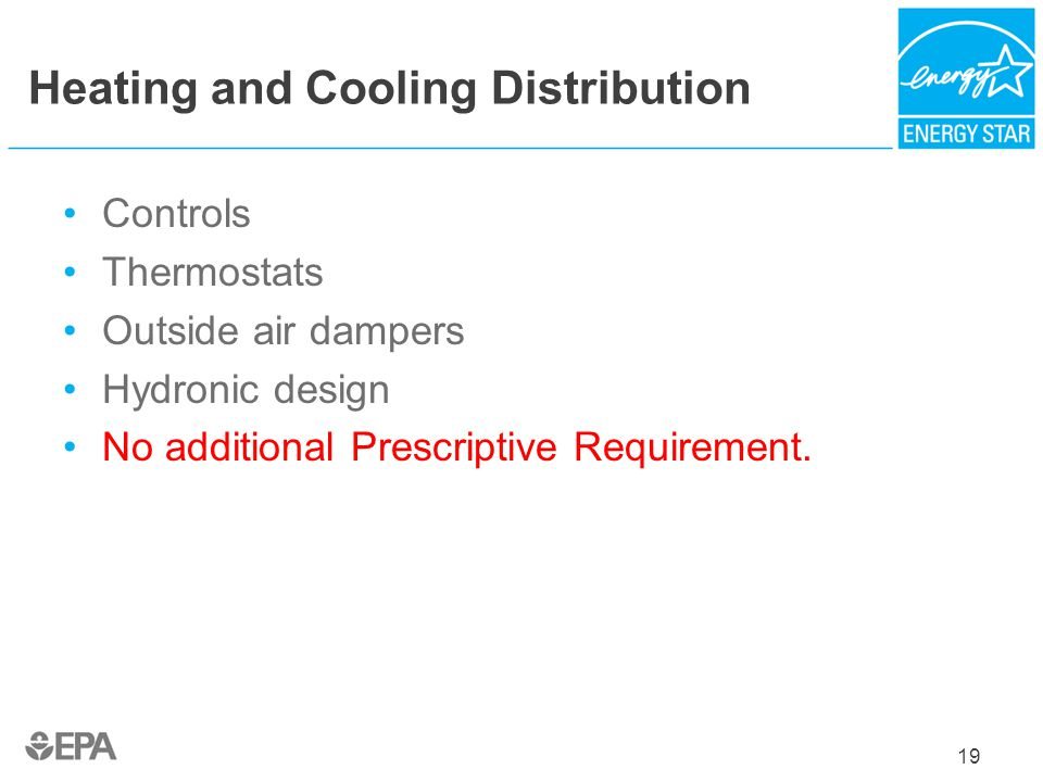 Heating and Cooling Distribution