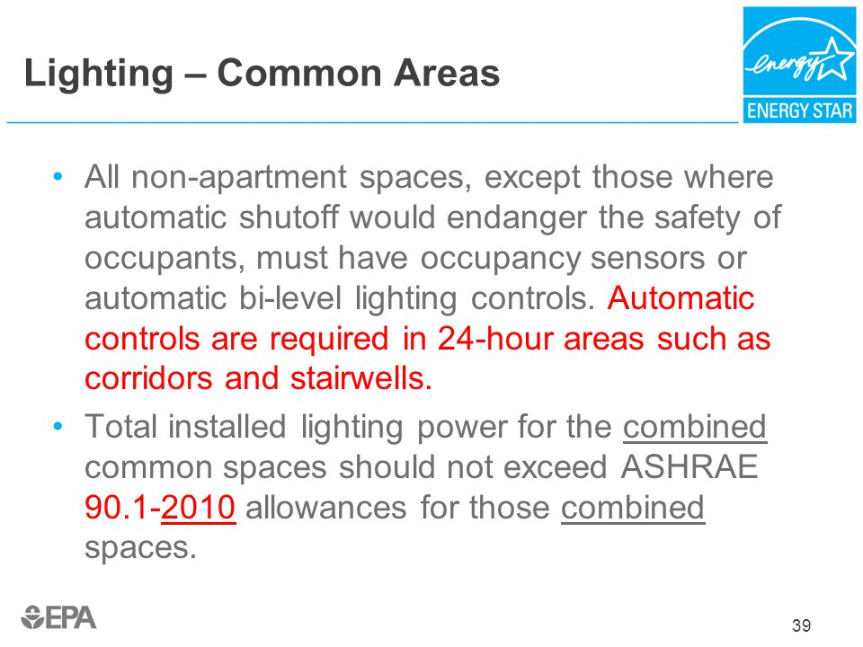 Lighting – Common Areas