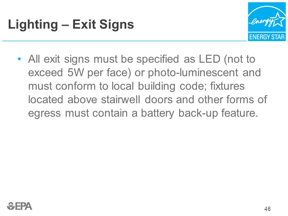 Lighting – Exit Signs
