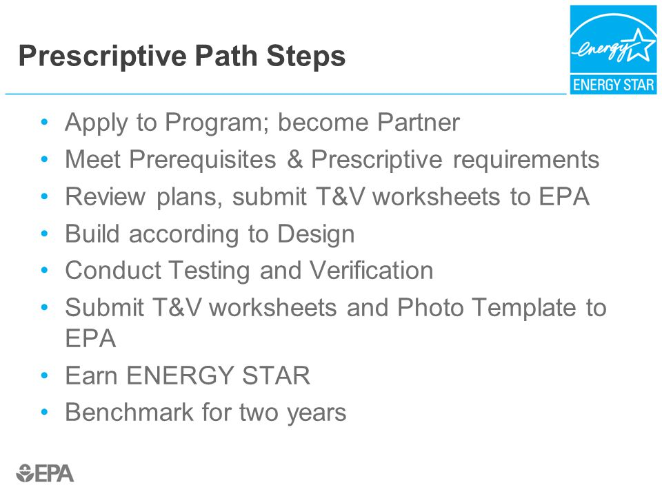 Prescriptive Path Steps