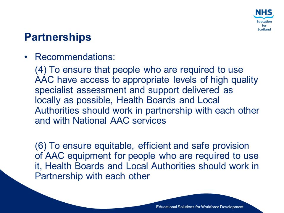 Partnerships Recommendations:
