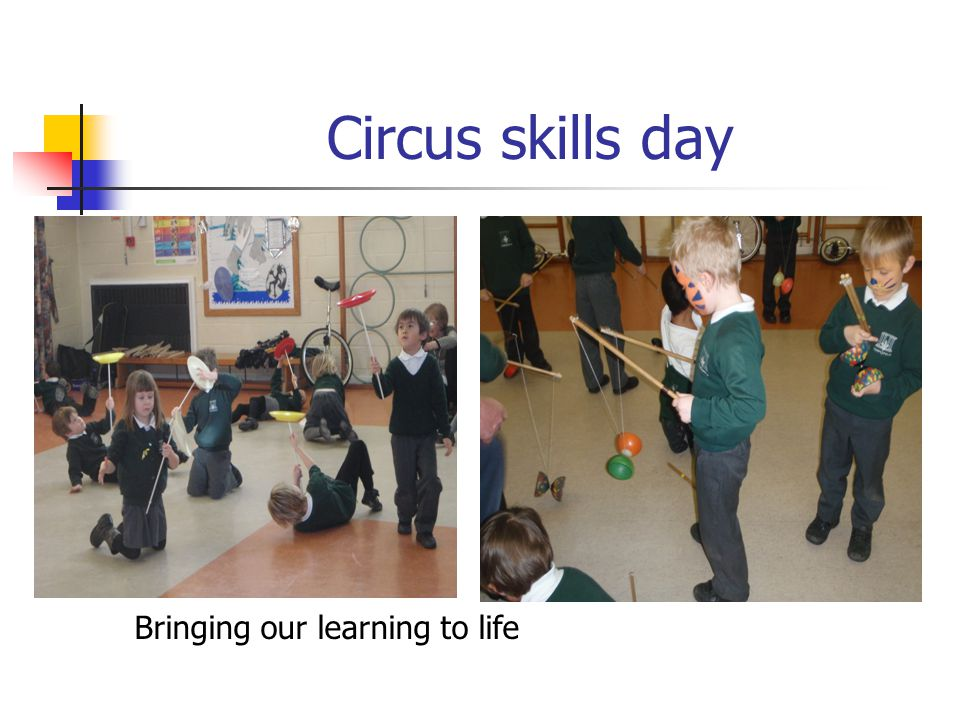 Circus skills day Bringing our learning to life