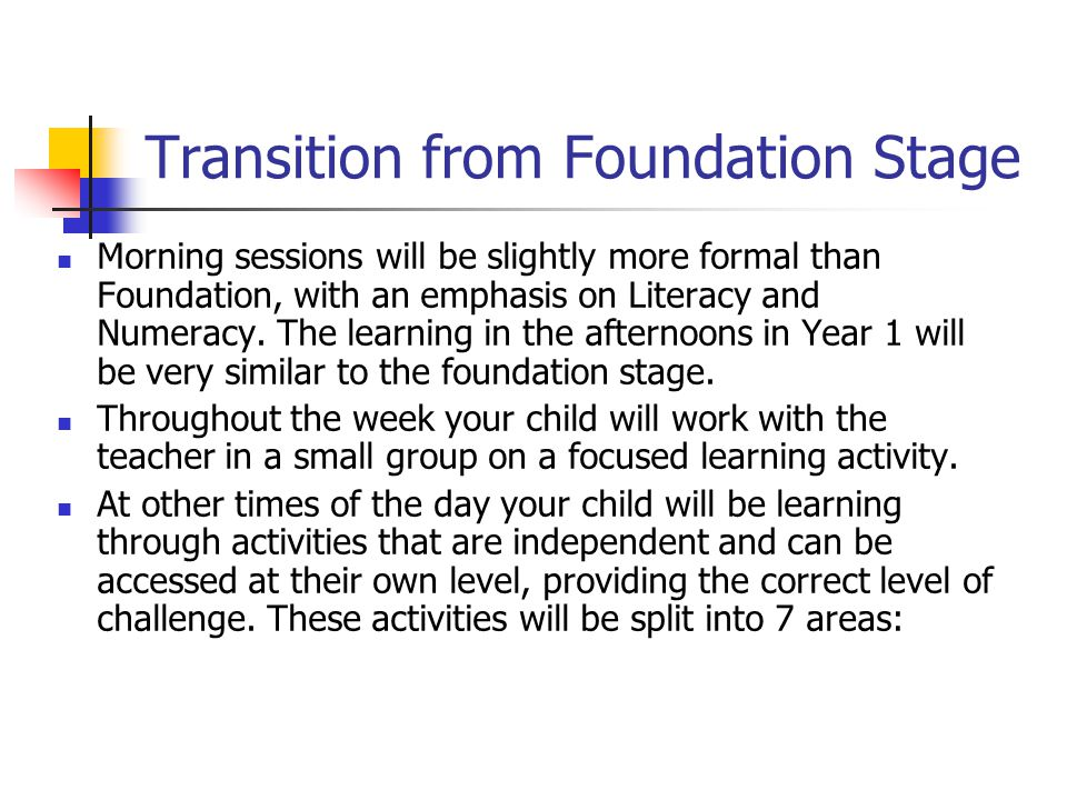 Transition from Foundation Stage