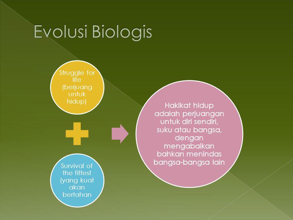 Evolusi Biologis Struggle for life (berjuang untuk hidup)