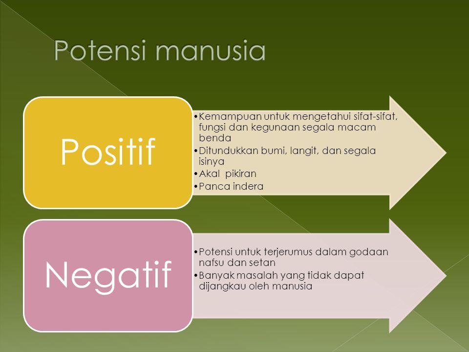 Potensi manusia Positif