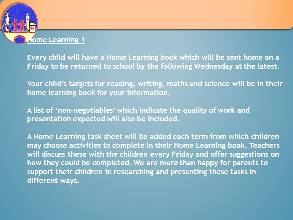 Home Learning 1