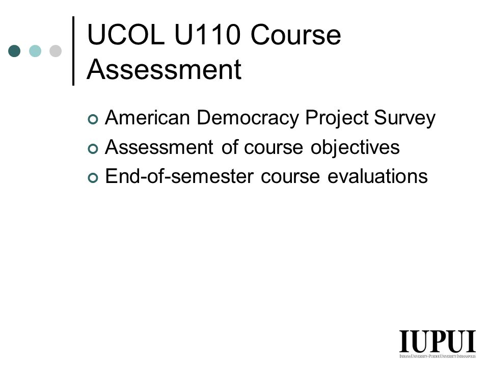 UCOL U110 Course Assessment