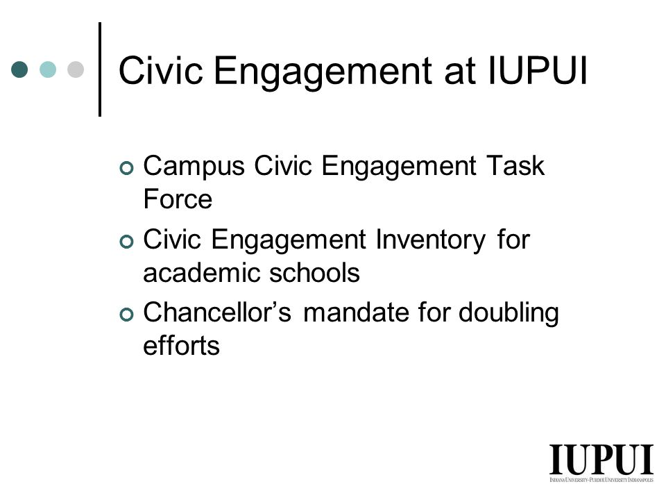 Civic Engagement at IUPUI