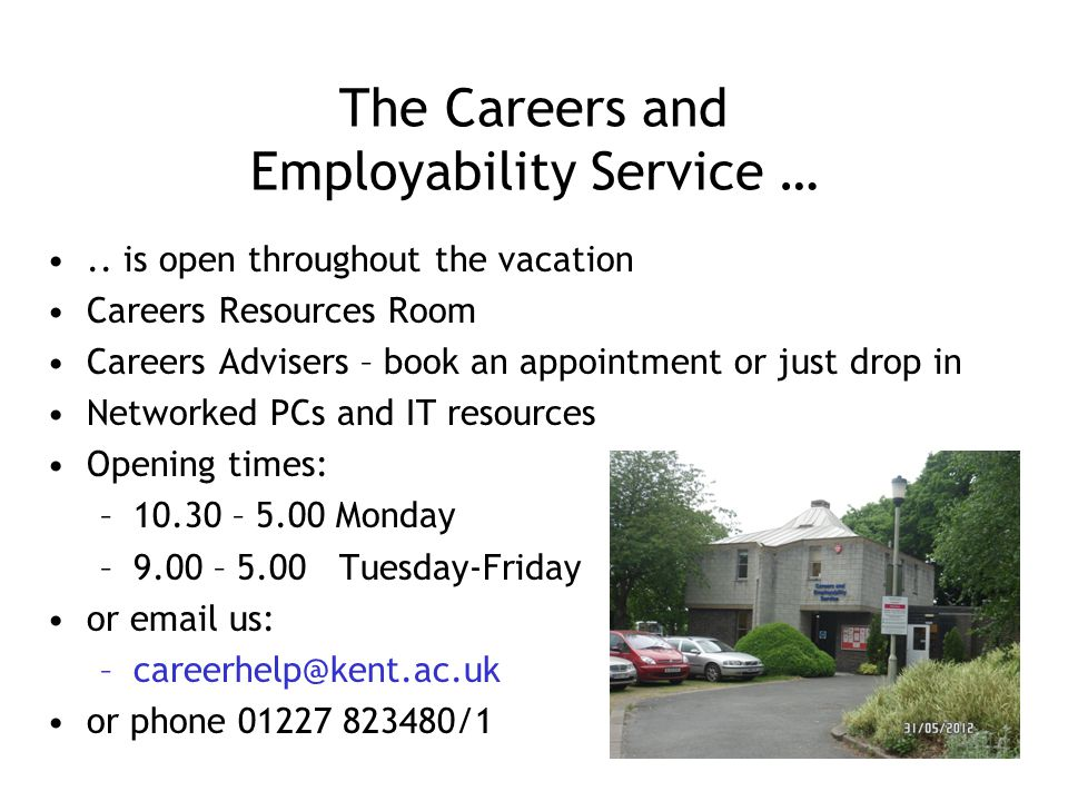 The Careers and Employability Service …