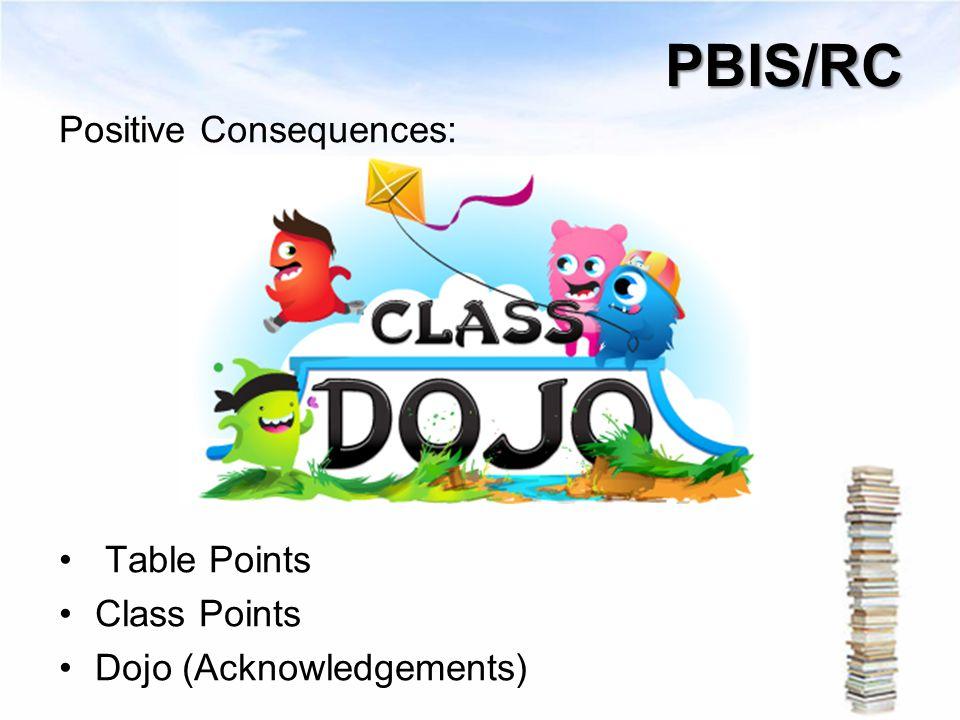 PBIS/RC Positive Consequences: Table Points Class Points