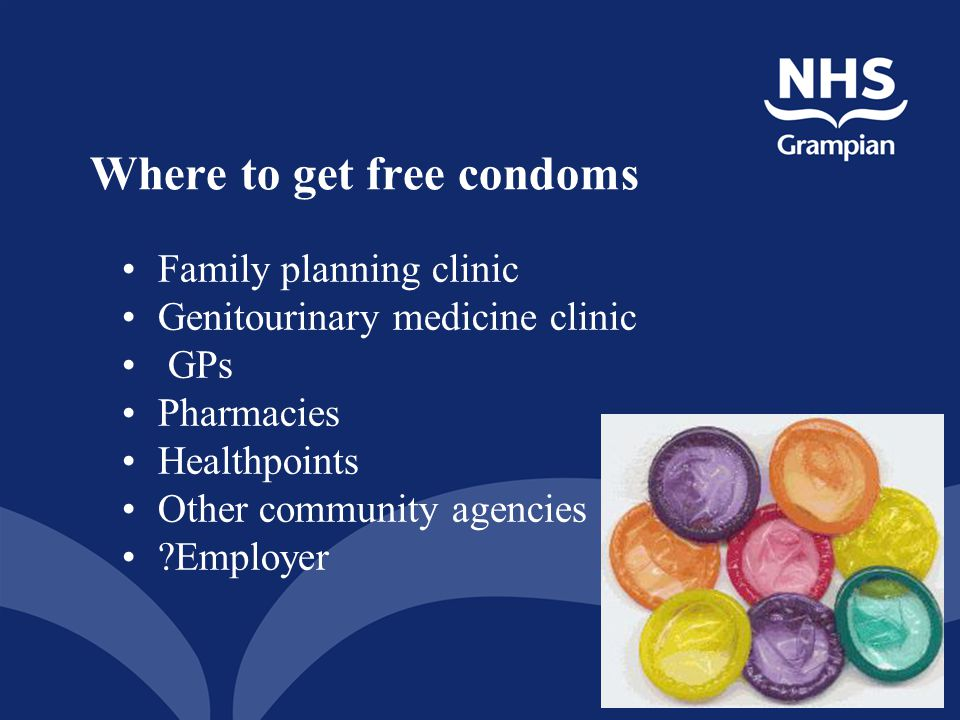 Where to get free condoms