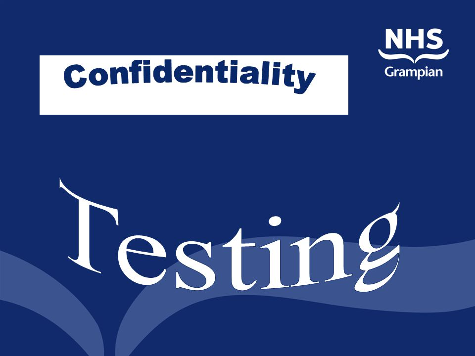 Confidentiality Testing Where can you go for an STI test