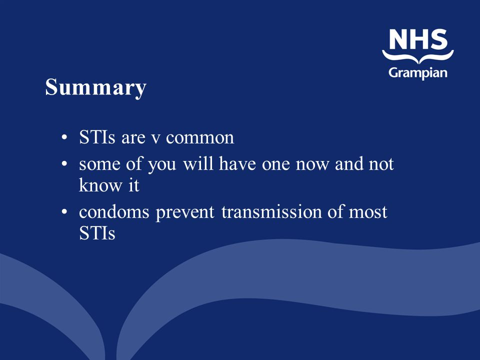Summary STIs are v common