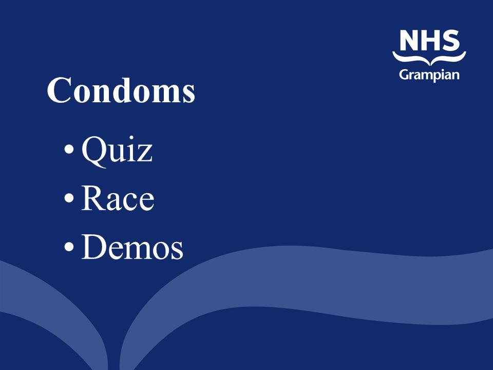 Condoms Quiz Race Demos