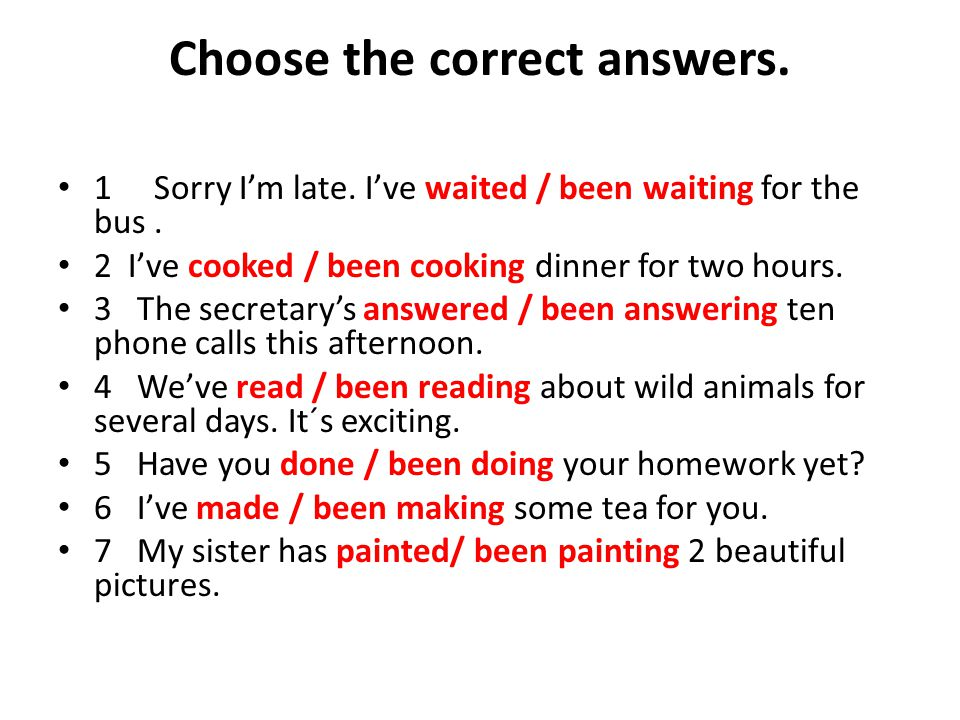 Choose the correct answers.