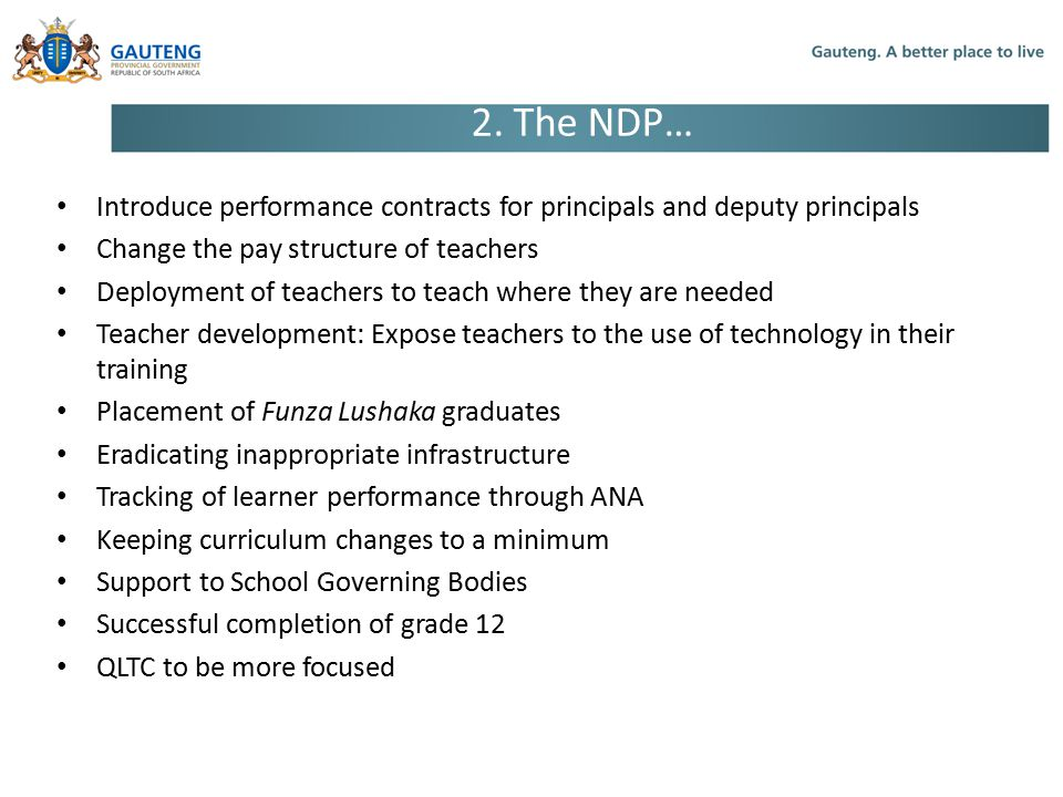 Introduce performance contracts for principals and deputy principals