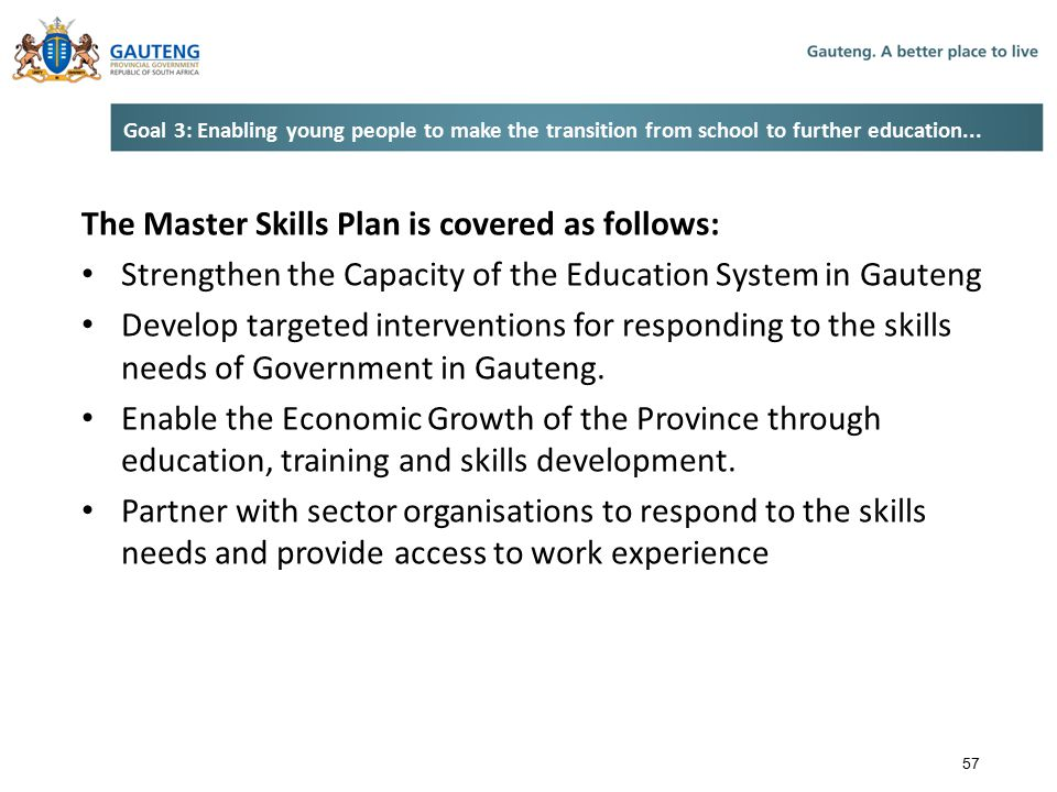 The Master Skills Plan is covered as follows:
