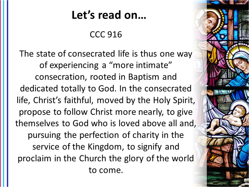 Let's read on… CCC 916.