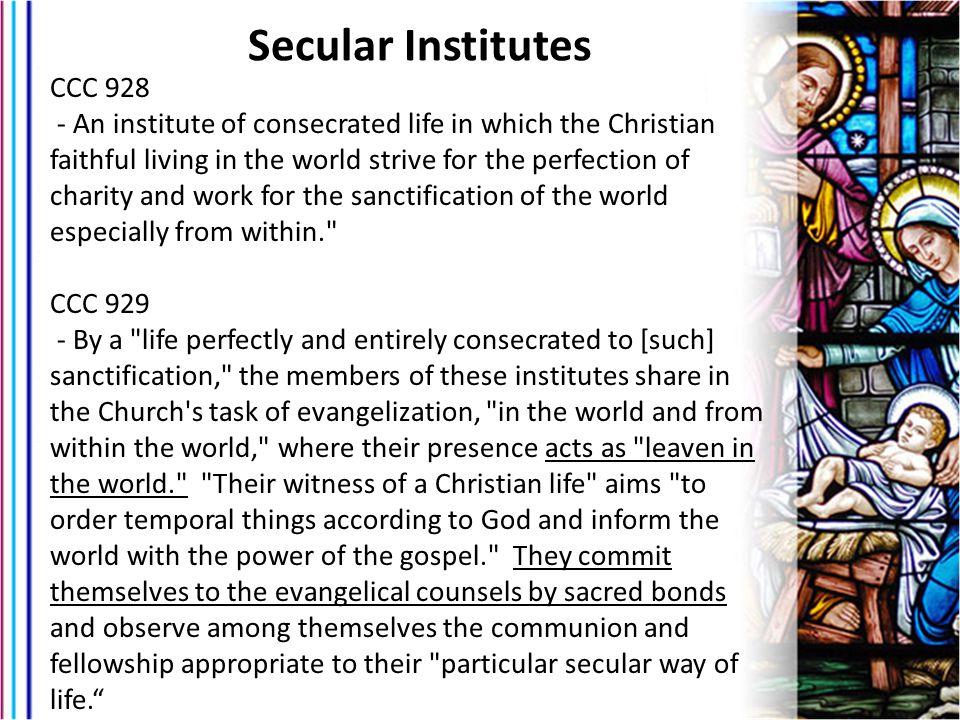 Secular Institutes CCC 928