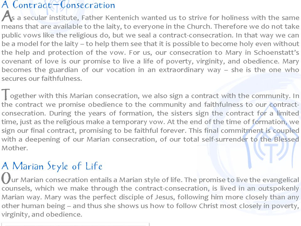 This is a screen shot from the Schoenstatt Sisters' website from Waukesha, WI.