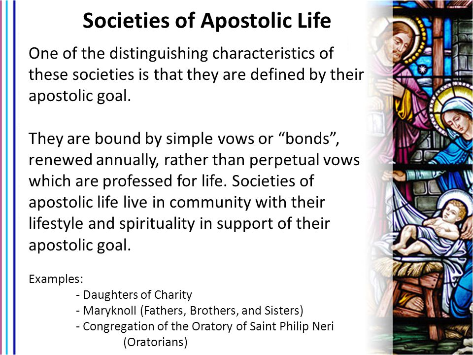 Societies of Apostolic Life