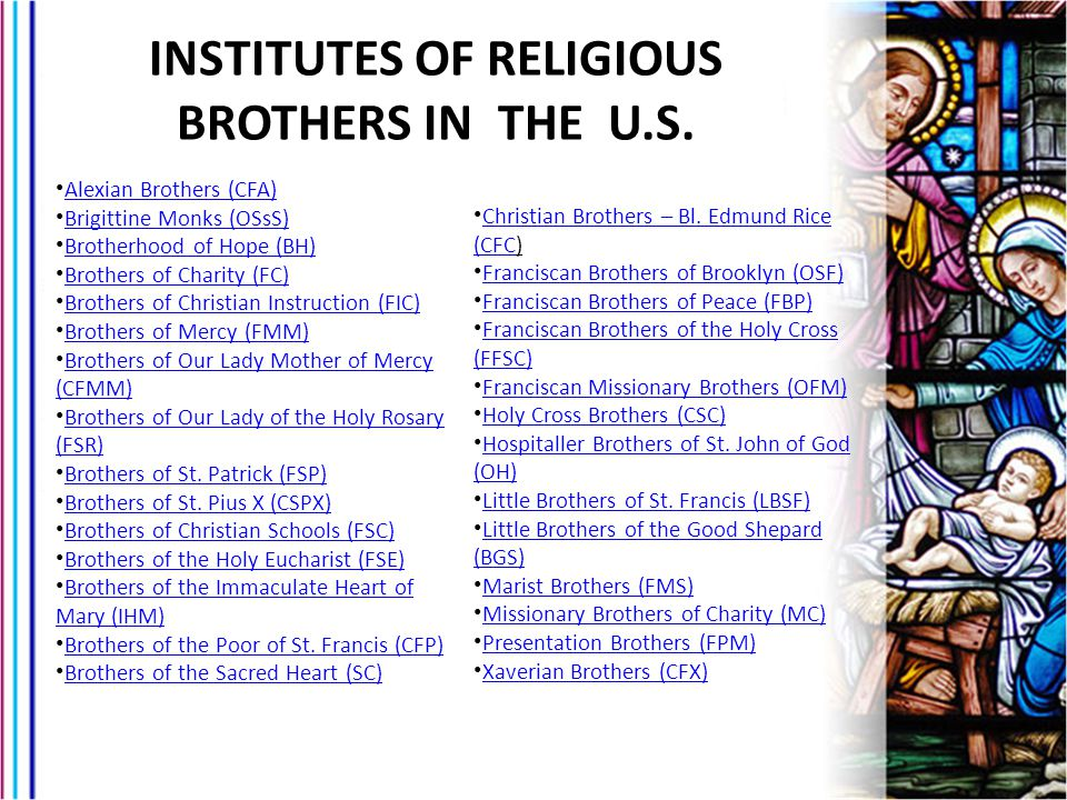 INSTITUTES OF RELIGIOUS BROTHERS IN THE U.S.