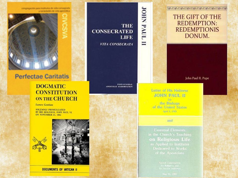 This year (2014 & 2015) celebrates the 50th anniversary of the promulgation of 2 of documents from Vatican II that had a major part in the renewal of religious life: