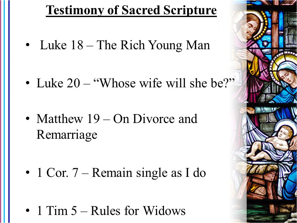 Testimony of Sacred Scripture