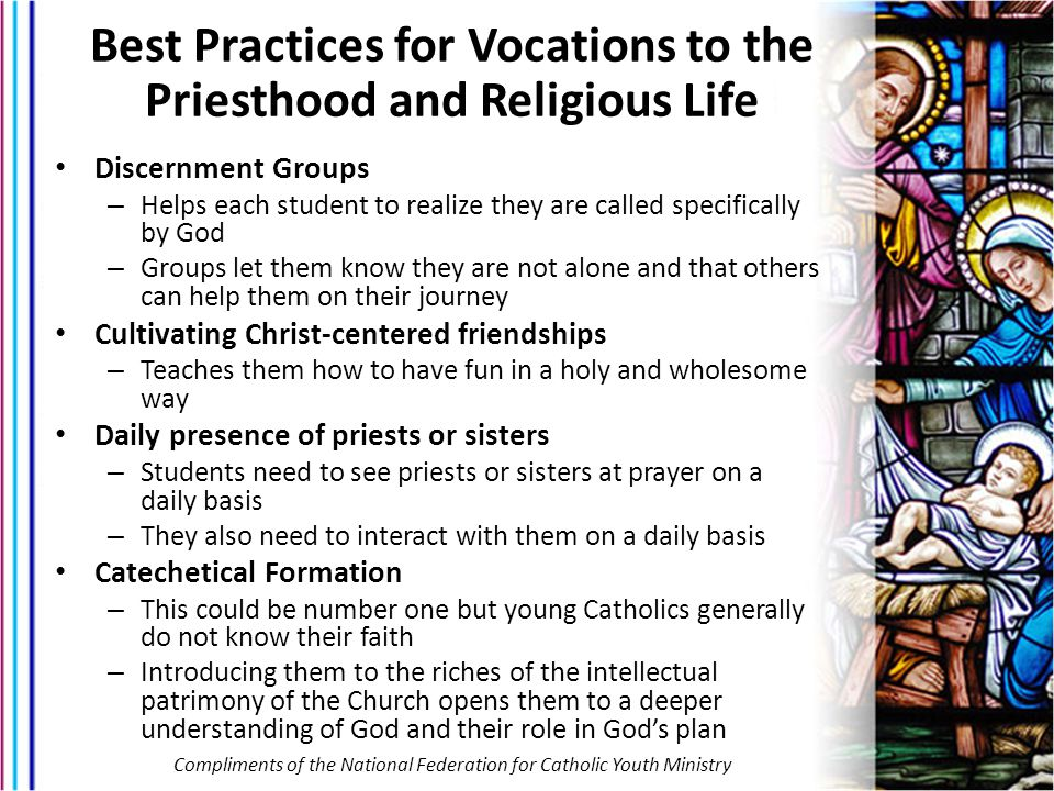 Best Practices for Vocations to the Priesthood and Religious Life