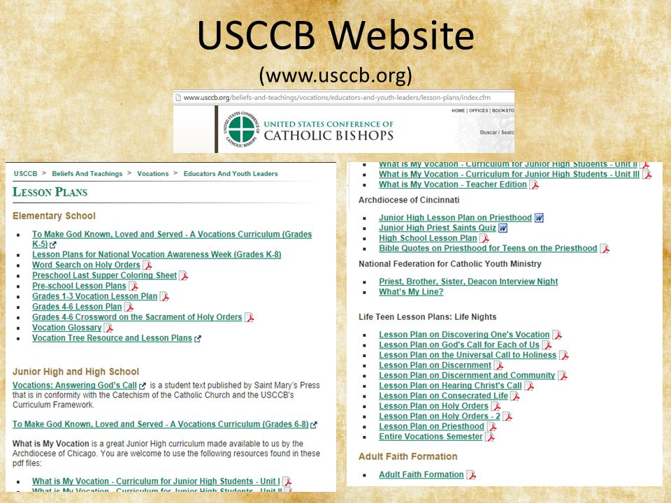 USCCB Website (www.usccb.org)