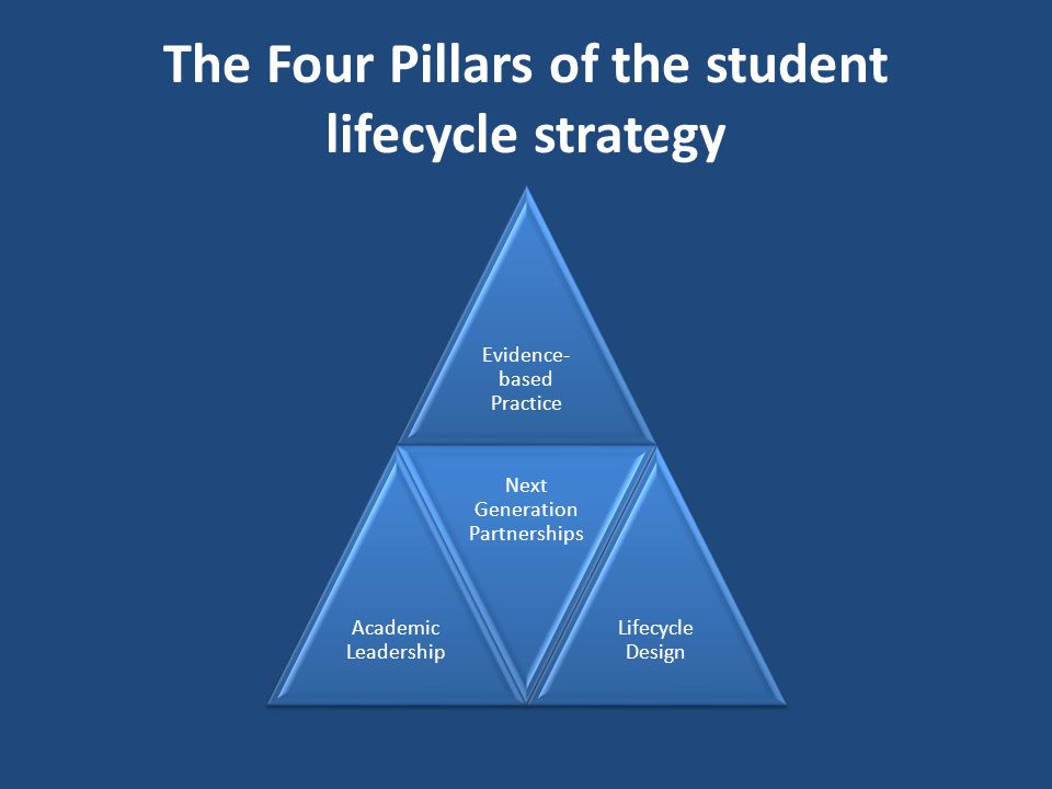 The Four Pillars of the student lifecycle strategy