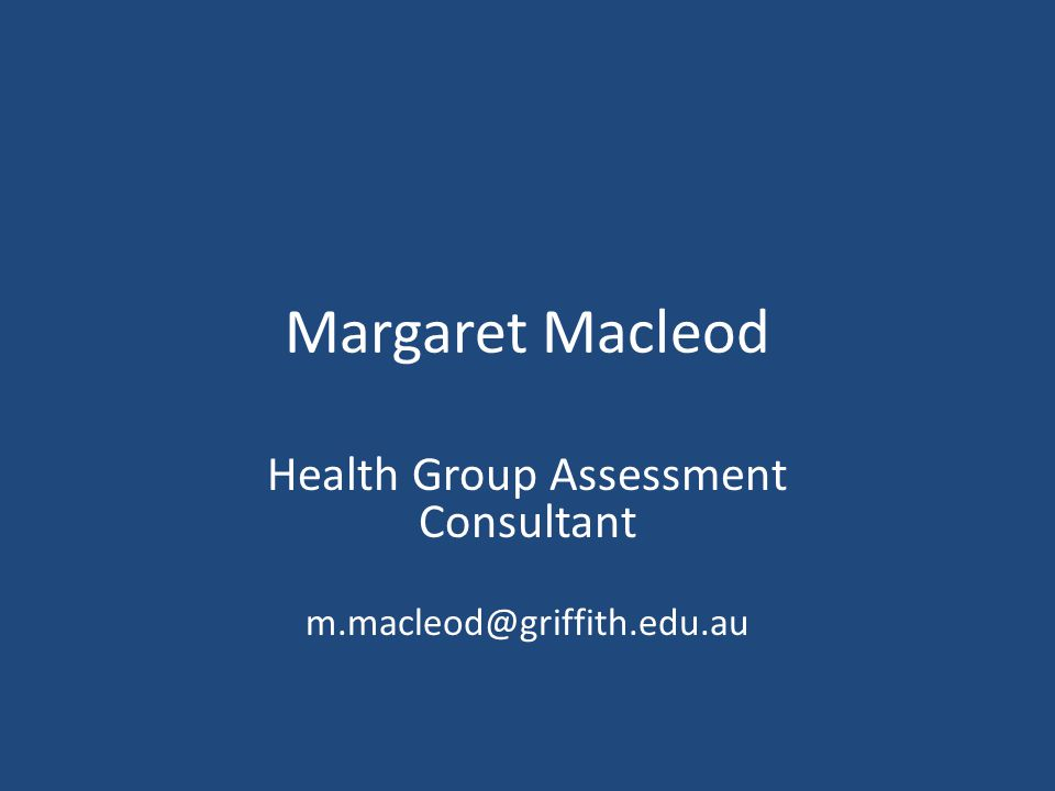 Health Group Assessment Consultant