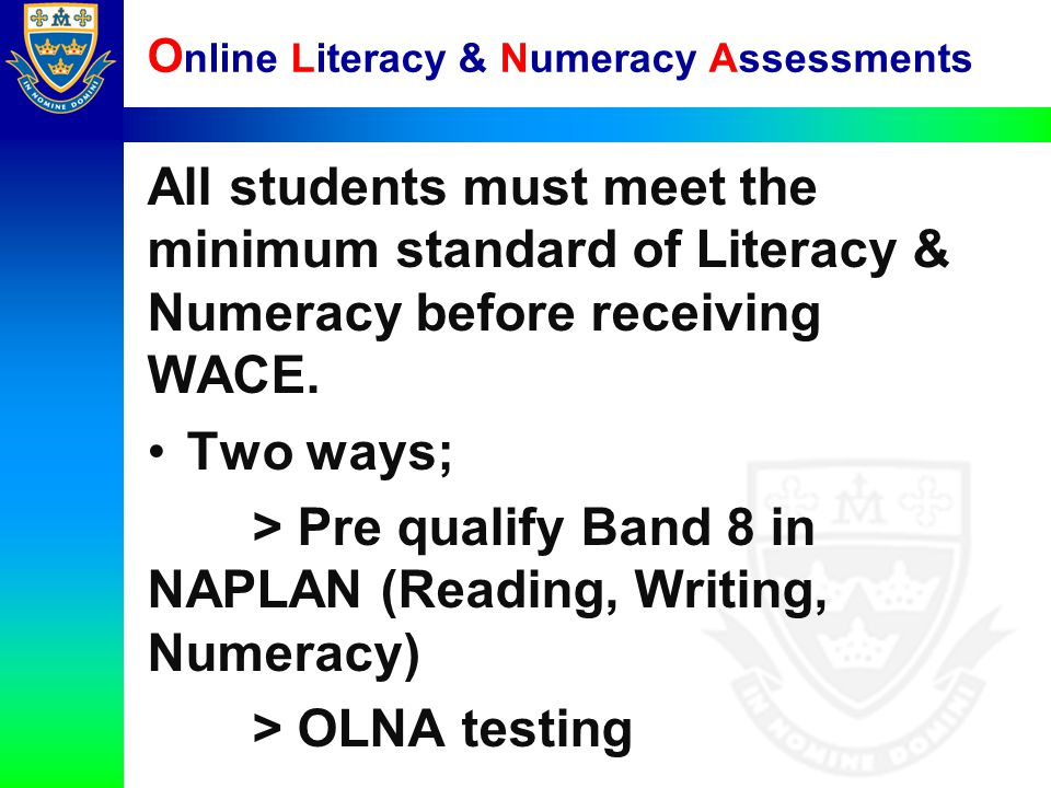 Online Literacy & Numeracy Assessments