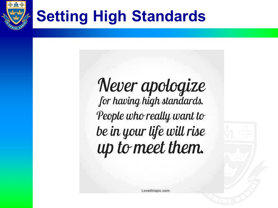 Setting High Standards
