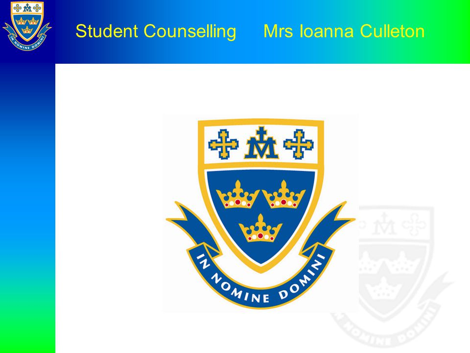 Student Counselling Mrs Ioanna Culleton
