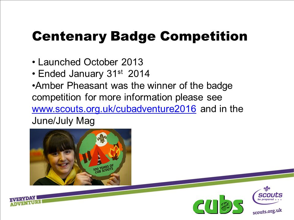 Centenary Badge Competition