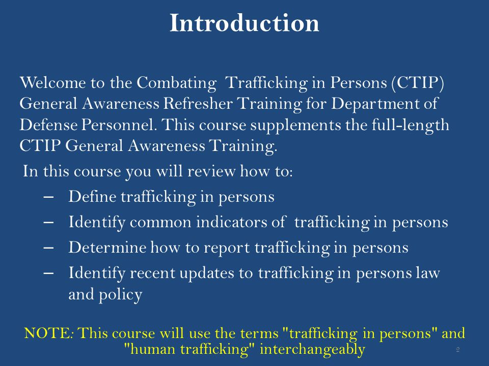 Introduction In this course you will review how to: