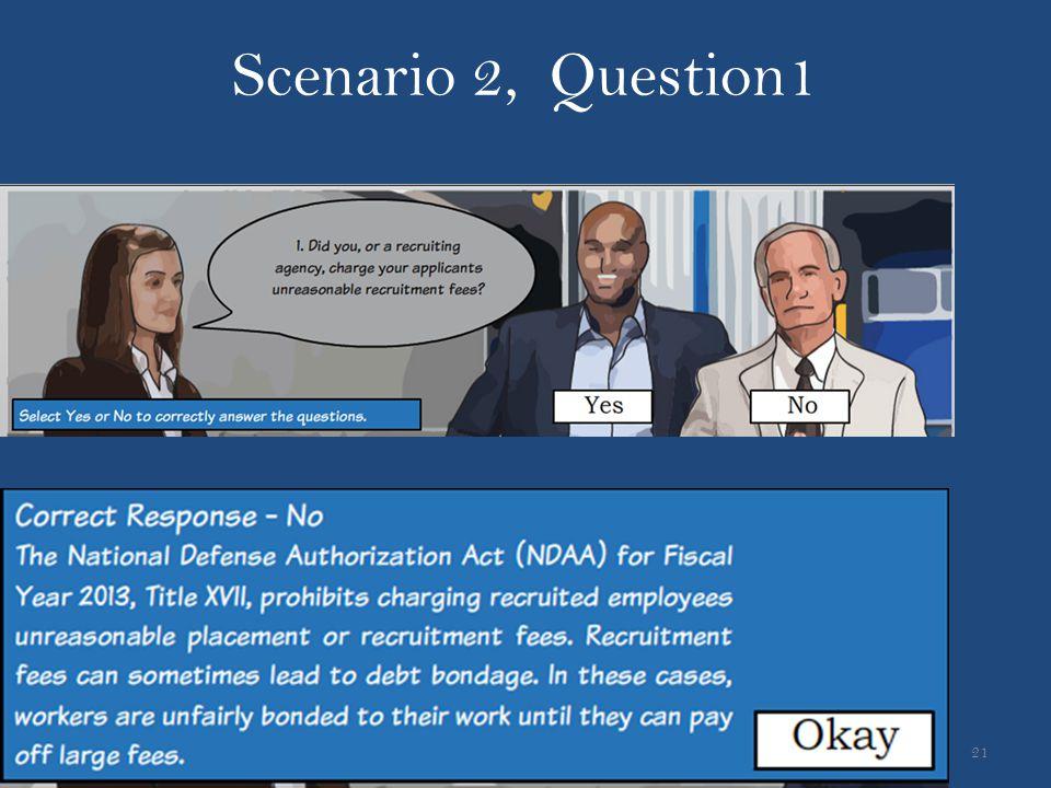 Scenario 2, Question1