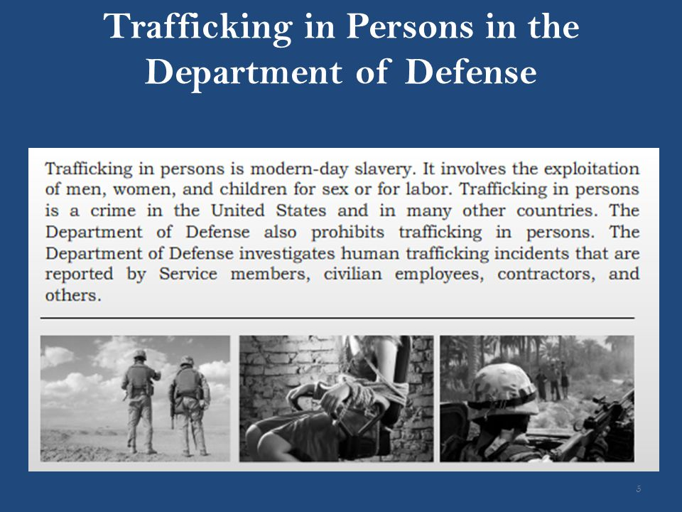Trafficking in Persons in the Department of Defense