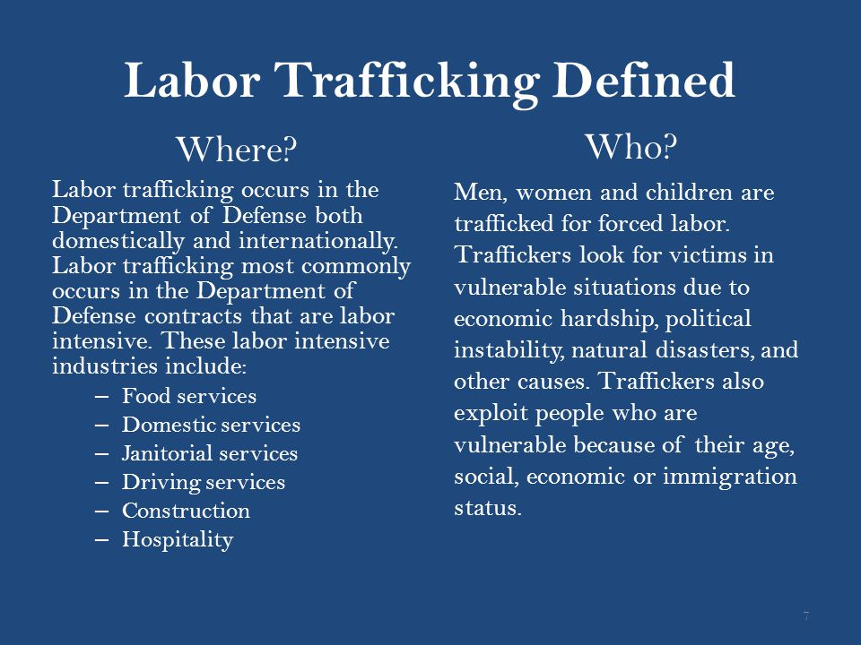 Labor Trafficking Defined