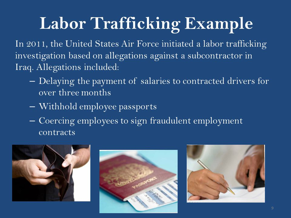 Labor Trafficking Example