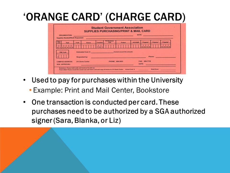 'Orange Card' (Charge card)