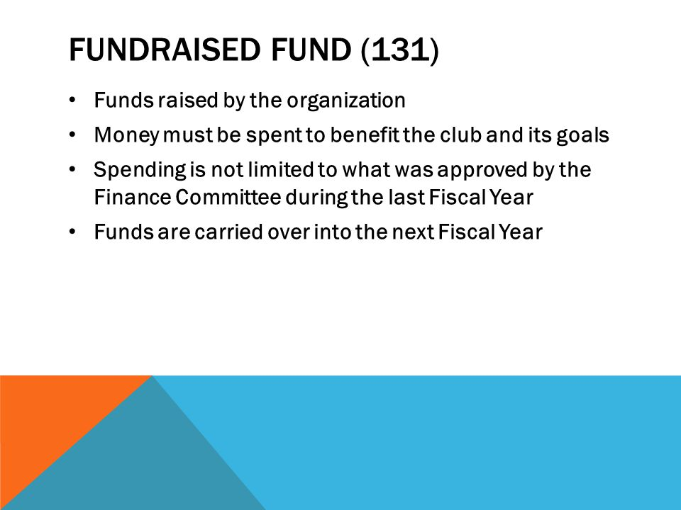 Fundraised fund (131) Funds raised by the organization