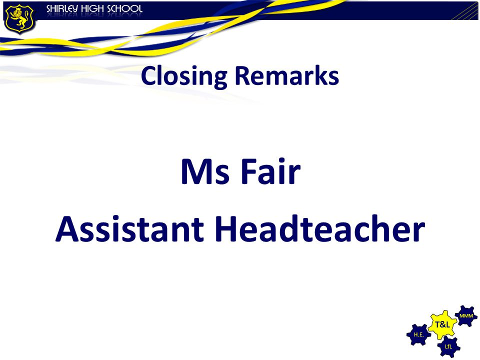 Ms Fair Assistant Headteacher