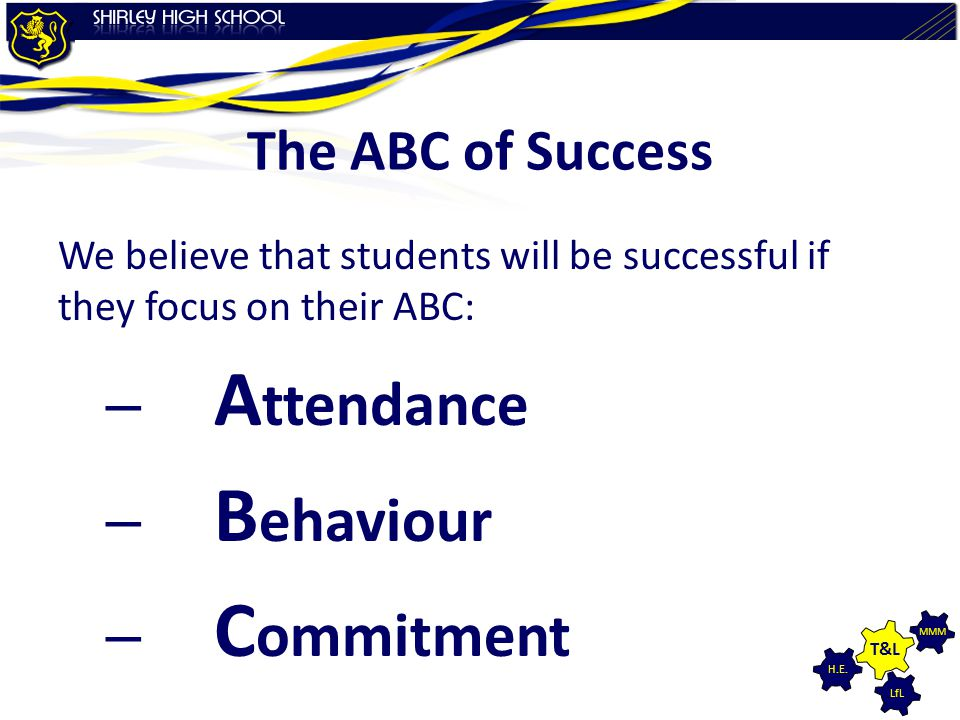 Attendance Behaviour Commitment The ABC of Success