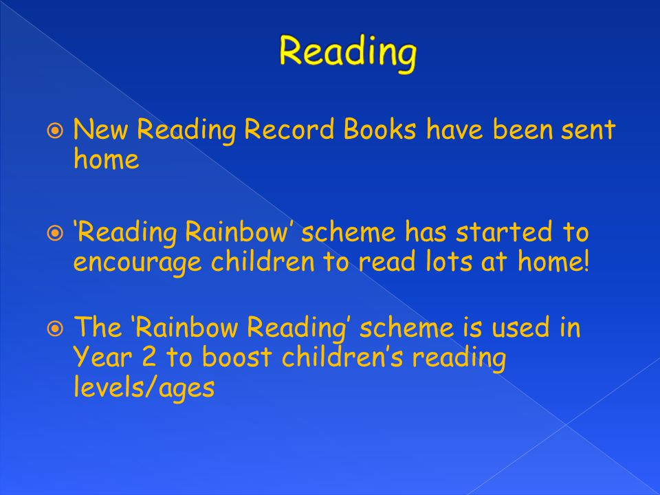Reading New Reading Record Books have been sent home