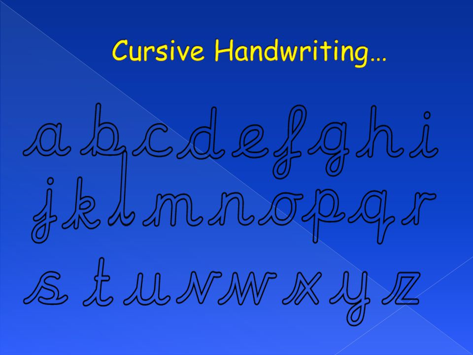 Cursive Handwriting…