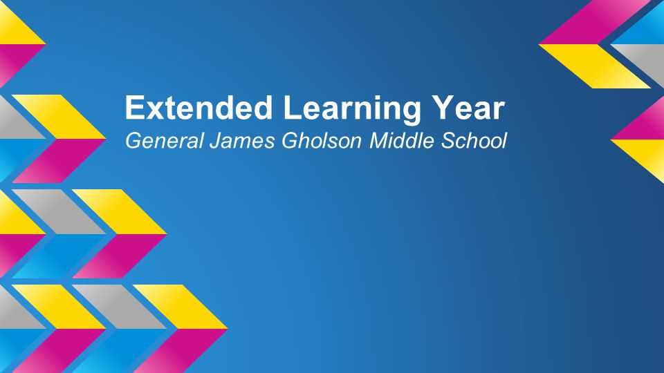 Extended Learning Year General James Gholson Middle School