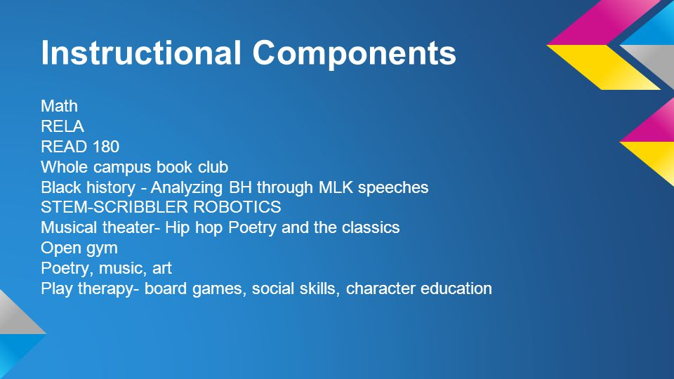 Instructional Components